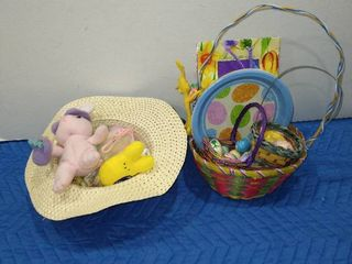 Assorted Easter baskets  eggs and more