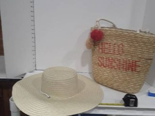 Wicker Basket and straw hat