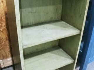 Green wooden bookcase 38 x 19 x 11 in