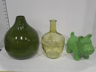 lot of green home decor