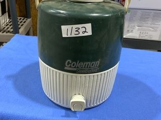 Coleman Steel Belted cooler with spout