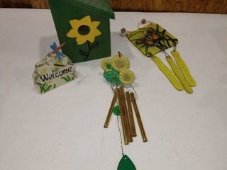 Sunflower designed birdhouse and more