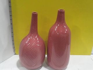 2 Mauve colored small wares