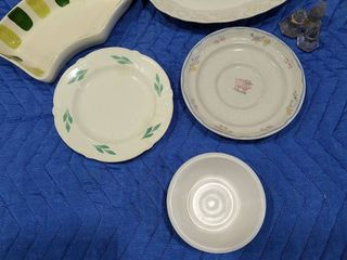 Assorted trays  plates and bowl