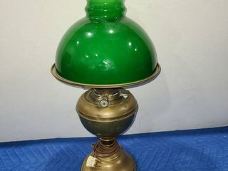 Green lantern styled table lamp