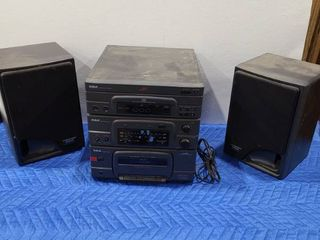 RCA 3 disc exchange stereo with radio and cassette player