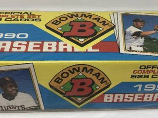 Complete Factory Sealed 1990 Bowman Set   528 Baseball Cards   With Mint Frank Thomas Rookie Card