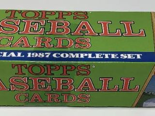 Complete Factory Sealed 1987 Topps Set   792 Baseball Cards   With Mint Bo Jackson  Barry Bonds  Mark McGwire Rookies   More