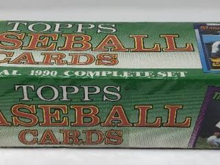 Complete Factory Sealed 1990 Topps Set   792 Baseball Cards   With Mint Frank Thomas Rookie
