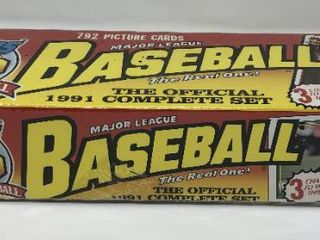 Complete Factory Sealed 1991 Topps Set   792 Baseball Cards   With Mint Chipper Jones Rookie