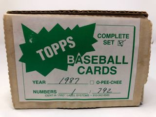 Complete 1987 Topps Set   792 Baseball Cards   Bo Jackson  Barry Bonds  Mark McGwire   More