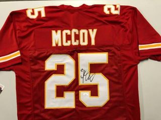 Signed leSean McCoy Kansas City Chiefs  25 Custom Jersey with James Spence Witnessed Authentication