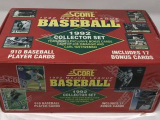 Complete Factory Sealed 1992 Score Set   910 Baseball Cards
