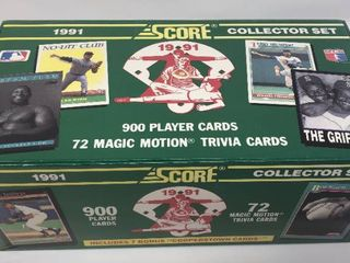 Complete Factory Sealed 1991 Score Set   900 Baseball Cards   Chipper Jones   Mike Mussina Rookies