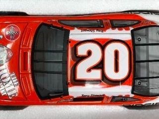 New In Box Tony Stewart  20 Diecast Red White Car 1 24 Scale Coca Cola Polar Bear