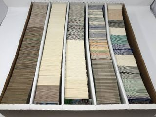 large 5 000 Count Five Row Box of Sports Trading Cards