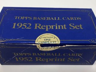 Mint 1952 Topps Reprint Complete Set with Mickey Mantle  Willie Mays  and More
