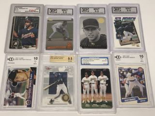 lot of Eight Professionally Graded Baseball Cards