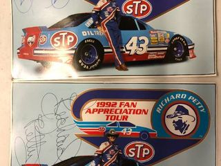 Two Richard Petty 1992 Fan Appreciation Pictures   No Certificates