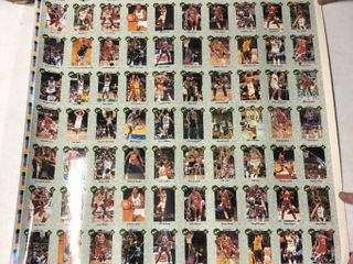 Several 1991 Classic Best Uncut Basketball Card Sheets   Half a Dozen with Duplicates