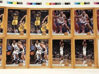 lot of Several 1993 Classic Uncut Sheets With Certificate of Authenticity