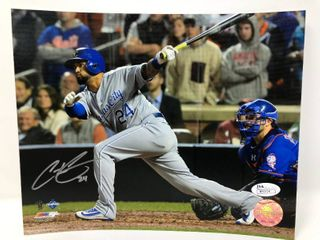 Signed Cristian Colon Kansas City Royals 8x10 Photograph with James Spence Certification