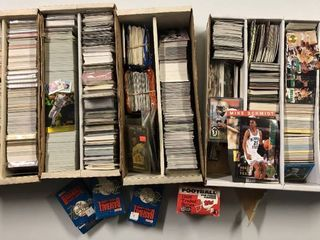 Huge lot of over 8 000 Sports Trading Cards