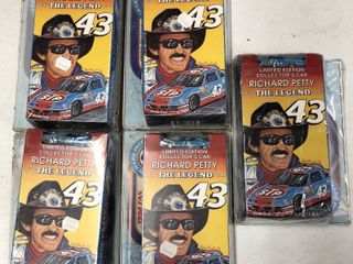 Five Richard Petty VHS Cassette Tapes with Matchbox Race Car