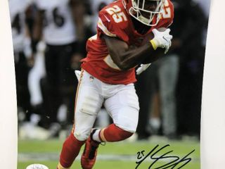 Signed leSean McCoy Kansas City Chiefs  25 8x10 Photograph with James Spence Witnessed Authentication