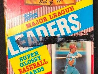 1988 Topps Major league leaders Super Glossy Mini Baseball Cards Sealed in Packs