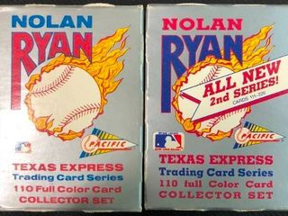 Pacific Nolan Ryan Series 1 and 2 Complete 220 Card Sets