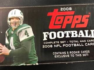Complete 2008 Topps Football Trading Card Set with Matt Ryan Rookie