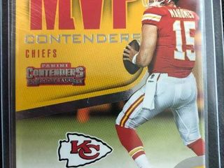 Two 2018 Contenders Patrick Mahomes Football Cards   2018 2nd Year   2018 MVP Contenders Inserts