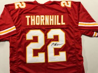 Signed Juan Thornhill Kansas City Chiefs  22 Custom Jersey With James Spence JSA Witnessed Certification
