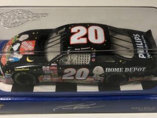 New In Box Tony Stewart  20 Diecast Black Car Home Depot 1 24 Scale