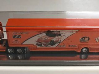 New In Display Case Tony Stewart  20 Home Depot 1 64 Scale Tractor Trailer Truck with Car