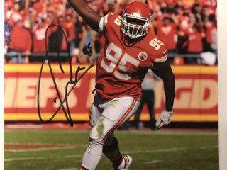 Signed Chris Jones Kansas City Chiefs  95 8x10 Photograph with James Spence JSA Witnessed Authentication