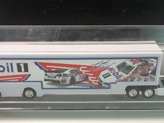 New In Display Case Tony Stewart  14 Mobile 1 1 64 Scale Tractor Trailer Truck with Car