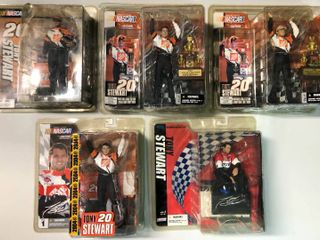 Five New In Package Tony Stewart Action McFarlane Figurines   Home Depot   More   All Five One Money