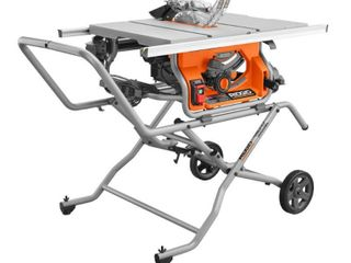 RIGID 10 in  Pro Jobsite Table Saw with Stand   MSRP  399 99