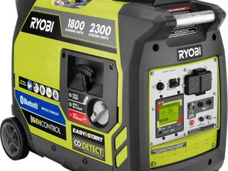 RYOBI 2 300 Watt Recoil Start Bluetooth Super Quiet Gasoline Powered Digital Inverter Generator with CO Shutdown Sensor   MSRP  629 00