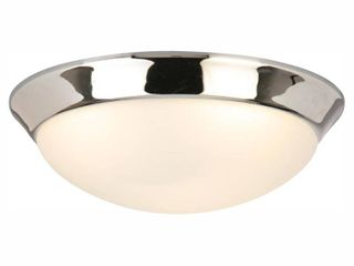 Hampton Bay 13 in  Chrome lED Flush Mount   MSRP  39 99