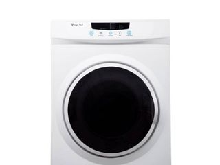 Magic Chef Compact 3 5 cu  ft  Electric Dryer in White   MSRP  359 99