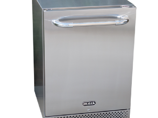 BUll 25 in  W 4 9 cu  ft  Built In Stainless Steel Outdoor Mini Fridge  Premium 2 with lock and Key without Freezer   MSRP  1567 65