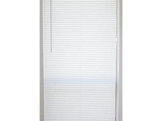 White Cordless 1 in  Vinyl Mini Blind   34 in  W x 64 in  l