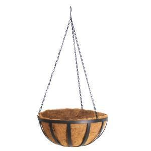 Vigoro 12 in  Metal English Hanging Coco Basket