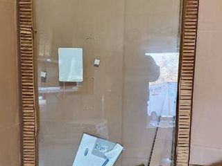 Basco Celesta 59 in  x 76 in  Semi Frameless Pivot Shower Door   Glass Door Only    1  PANE   NO HARDWARE