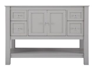 Home Decorators Collection Gazette 48 in  W Bath Vanity Cabinet Only in Grey   MSRP  829 00