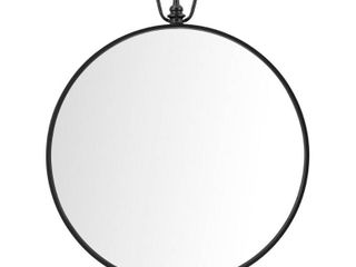 StyleWell Medium Round Black Modern Mirror  32 5 in  H x 27 5 in  W    MSRP  109 00