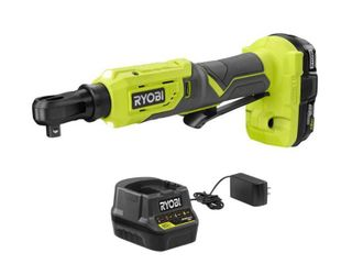 RYOBI ONE  18V Cordless 3 8 in  4 Postion Ratchet Kit with  1  1 5 Ah Battery and Charger   MSRP  89 00